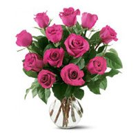 Valentine's Day Flowers to Bengaluru : Pink Roses in Vase