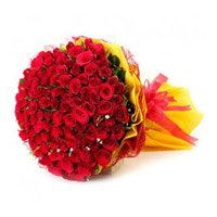 Deliver New Year Flowers in Bangalore that include Red Roses Bouquet 150 Flowers to Bengaluru