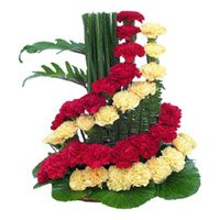 Flower Delivery in Bangalore - Mix Carnation Basket