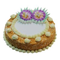 Best Cakes in Bangalore to send 500 gm Eggless Butter Scotch Cake