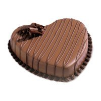 Online Valentine's Day Cakes Delivery to Bangalore - Heart Shape Chocolate Heart Cake