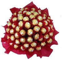 Deliver Friendship Day Gifts in Bangalore of 56 Pcs Ferrero Rocher Bouquet.
