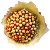 Online Gift Delivery in Bangalore. Send 64 Pcs Ferrero Rocher Bouquet on Friendship Day