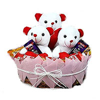 Same Day Delivery Gifts Bangalore. Order 24 Pink Roses 24 Pcs Ferrero Rocher Bouquet for Friendship Day