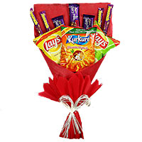 Online Gifts Delivery in Bangalore for 16 Pcs Ferrero Rocher Twin 6 Inch Teddy Bouquet on Friendship Day