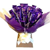 Gift of Dairy Milk Chocolate Bouquet 24 Chocolates to Bangalore on Friendship Day
