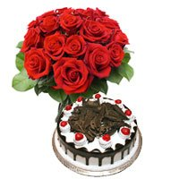 1/2 Kg Black Forest Cake 12 Flowers Bengaluru