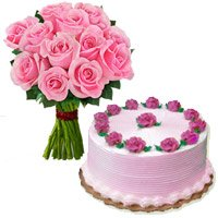 Pink Roses and Cakes to Bengaluru