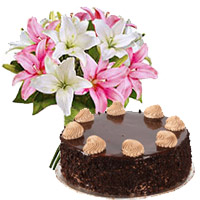 Flowers to Bengaluru - Chocolate Cake From 5 Star