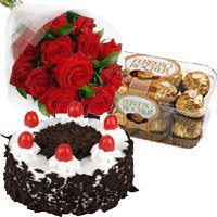 Deliver Rakhi with 2 Kg Online Eggless Chocolate Cake in Bangalore