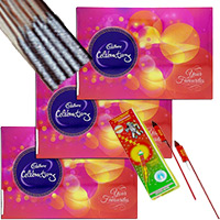 Diwali Gifts in Bangalore Cpmprising 3 Celebrations Pack with 1 Box of Rocket and 1 Box of Sparkle