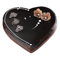 Valentine's Day Cakes Delivery in Bangalore - Chocolate Truffle Heart Cake