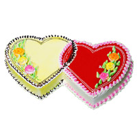 Online Delivery of 3 Kg Double Heart Butter Scotch Strawberry 2-in-1 Cake in Bangalore