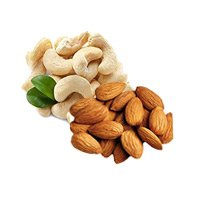 250gm Cashew and Almond. Send Free Rakhi with Rakhi Gifts in Bangalore