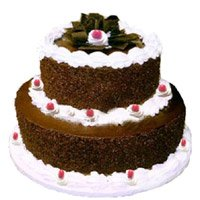 Online Hug Day Cakes to Bangalore - Tier Black Forest Cake