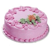 Send Cakes to Bangalore - Strawberry Cake From 5 Star