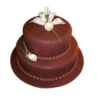 Send 3 Kg 2 Tier Eggless Chocolate Cake to Bangalore