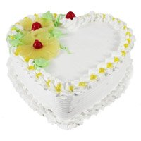 Best Heart Shape Cake Delivery in Bengaluru - Pineapple Heart Cake