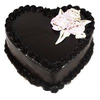 Cakes Delivery To Bangalore Send 1 Kg Eggless Heart Shape Chocolate Truffle Cake