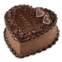 Valentine's Day Cake Delivery in Bengaluru - Chocolate Truffle Heart Cake