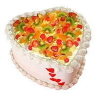 Valentine's Day Heart Shape Fruit Cakes in Bangalore