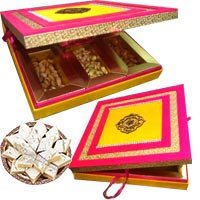 Place order for Fancy Dry Fruits to Bangalore with 250 gm Kaju Katli and Box of MDF 1 Kg