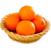 Send 12 Pcs Fresh Orange Fruit Basket. Order for Gift Delivery in Bangalore