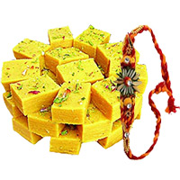 Send 250gm Soan Papdi with 1 Rakhi to Bangalore