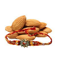 Rakhi Gifts to Bangalore. Deliver 250gms Almonds with 1 Rakhi to Bangalore