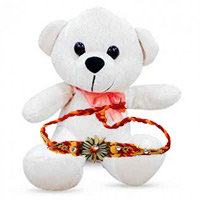 Send Rakhi Gifts Bangalore. Deliver 6 inch Teddy Bear with 1 Rakhi