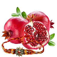 Free Rakhi in Bangalore, 1/2 Kg Pomegranate with 1 Free Rakhi in Bengaluru
