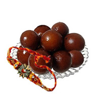 Send Rakhi to Bangalore. Send 250 gm Gulab Jamun with Free Rakhi in Bengaluru