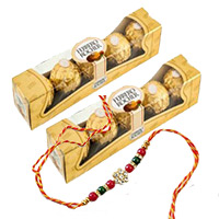 Send 10 Piece Ferrero Rocher Chocolates with 1 Free Rakhi to Bangalore
