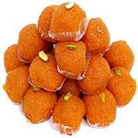 Send 1kg Motichoor Ladoo sweets to Bangalore