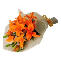 Flowers to Bangalore : Orange Lily