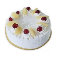 Send Online 1/2 Kg Strawberry Cake and Rakhi with 12 Pink Roses Bouquet to Bangalore