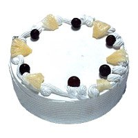 Cake Delivery to Bangalore to deliver 1 Kg Eggless Pineapple Cake
