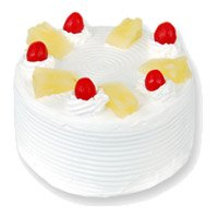 Online Cake Shop in Bangalore to send 2 Kg Eggless Pineapple Cake