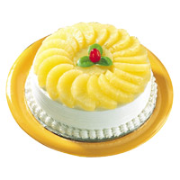 Send Cakes to Bengaluru - Pineapple Cake From 5 Star