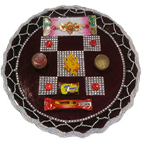 Send Rakhi Thali and Rakhi to Bangalore Jayanagar