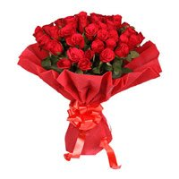 Send New Year Flowers to Bangalore including Red Rose Bouquet in Crepe 50 Flowers in Bangalore.