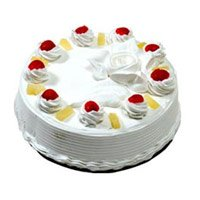 Send Rakhi Cake to Bangalore. Same Day Delivery of 1 Kg Eggless Black Forest Cake From 5 Star Hotel