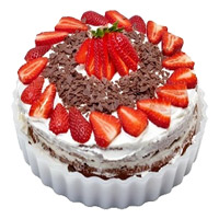 Online Cake Delivery in Bengaluru - Strawberry Cake From 5 Star