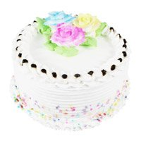 Deliver 2 Kg Eggless Vanilla Cake To Bangalore