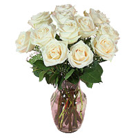 Flowers to Bangalore : White Roses