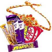 Send Twin Five Star, Dairy Milk, Munch, Kitkat Chocolates with 5 Pink Rose Flowers to Bangalore