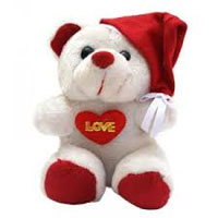 Send Christmas Gifts to Bangalore Kodihalli. Santa claus Teddy 12 inch With Cap